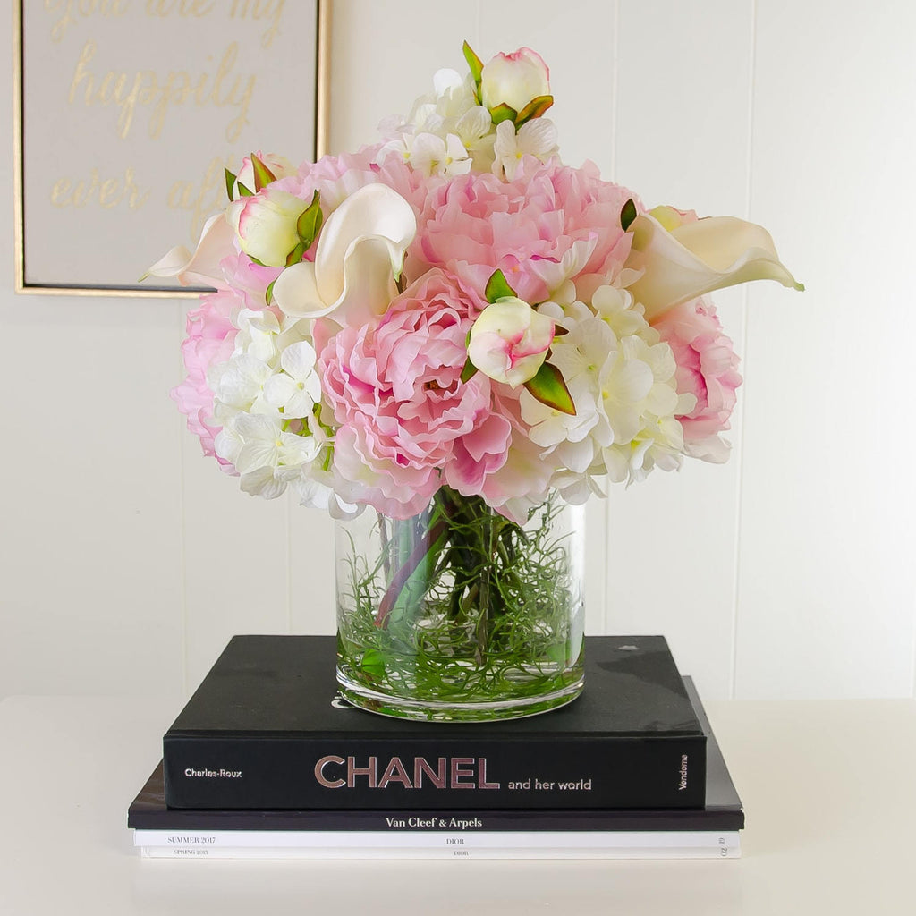Shop nearly natural tulip rose and hydrangea arrangement on