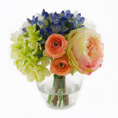 Real Touch Green Hydrangea Colorful Arrangement - Flovery