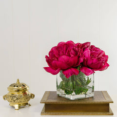 Large Real Touch Fuschia Peony Arrangement - Flovery