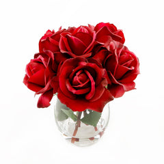 Real Touch Red Roses Arrangement - Flovery