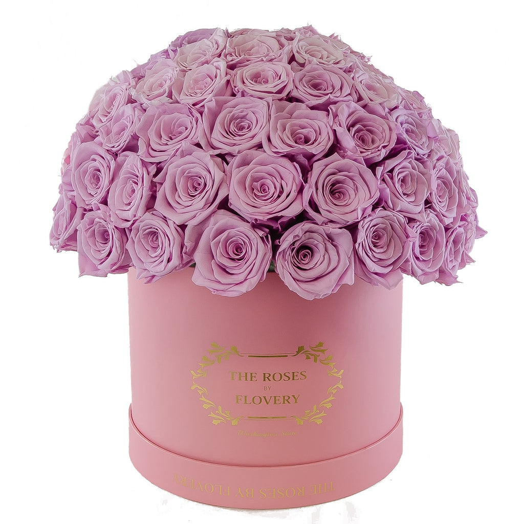 Dome 120 Lavender Roses Gold Box