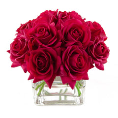 Real Touch Red Rose Square Arrangement Large