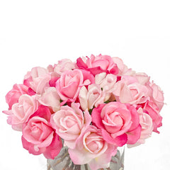 Real Touch Roses with Rose Buds Cylinder Arrangement