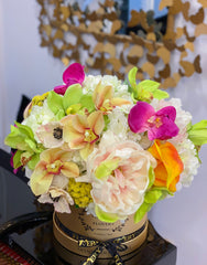 Limited Elegant Real Touch Flowers Arrangement - Flovery