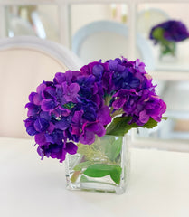 Everlasting Real Touch Purple Hydrangea  Arrangement - Flovery
