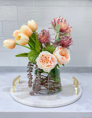 Real Touch Arrangement-Real Touch Flowers Centerpiece-Faux Floral Arrangements-Fall Arrangement-Table Centerpieces-Tropical Arrangement
