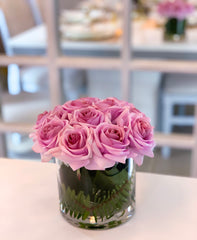 Real Touch Purple Lavender Rose Arrangement Home Decor
