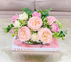 Elegant Real Touch Flowers Arrangement - Flovery's Exclusive Flowers