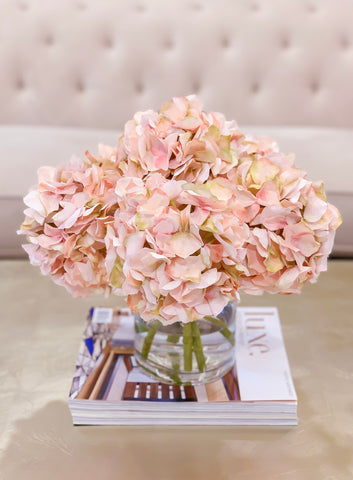 Large Artificial Pink Hydrangea Arrangement