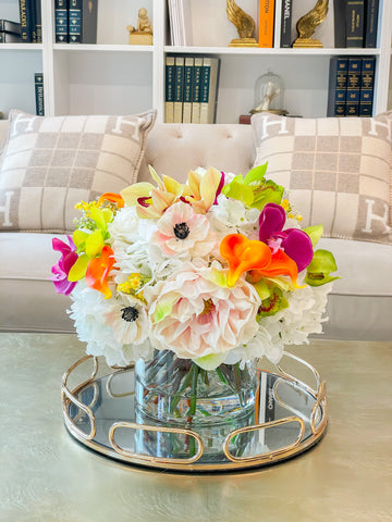 Large Centerpiece-Table Centerpiece-Large Real Touch Flower Arrangement-Flower Arrangement-Dining Room Faux Flower Arrangement
