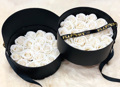 Premium Scented Soap White Roses In Elegant Double Box