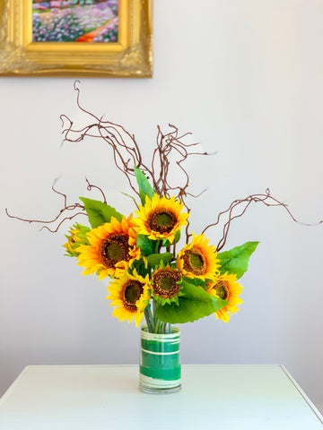 "27"" Large Floral Arrangement-Premium Finest Silk Sunflowers-Sunflower Centerpiece-Artificial Sunflower Arrangement-Fall Arrangement - Flovery"