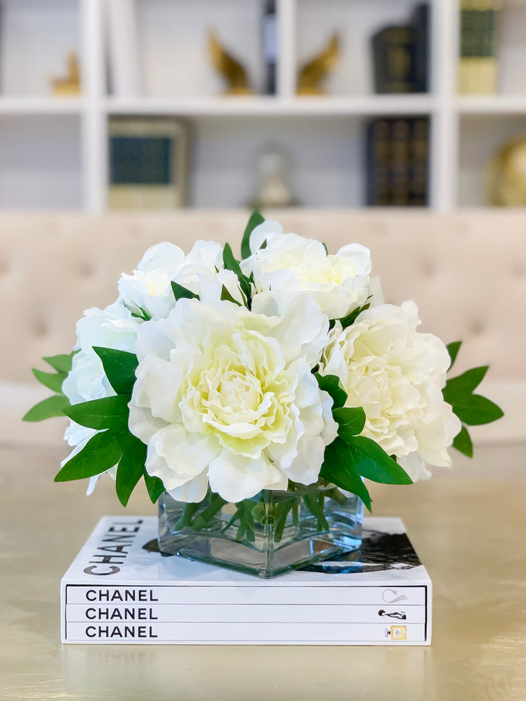 Real Touch Peony Arrangement-Real Touch Flower Arrangement-Large Peony Centerpiece-Peony Arrangement-Faux Arrangement-Peony Centerpiece - Flovery