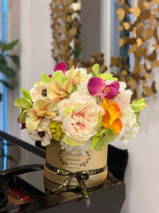 Limited Elegant Real Touch Flowers Arrangement
