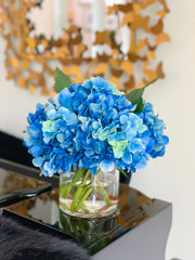 Real Touch Blue Hydrangea Arrangement For All Occasion