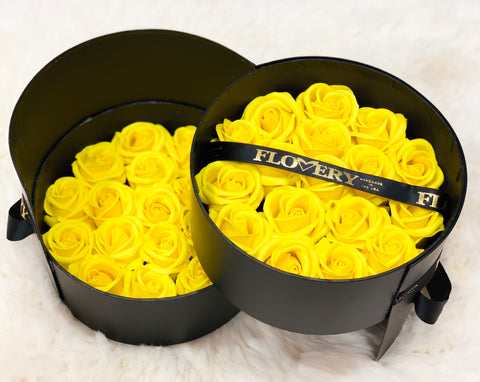 Premium Scented Soap Royal Yellow Roses In Elegant Double Box - Flovery