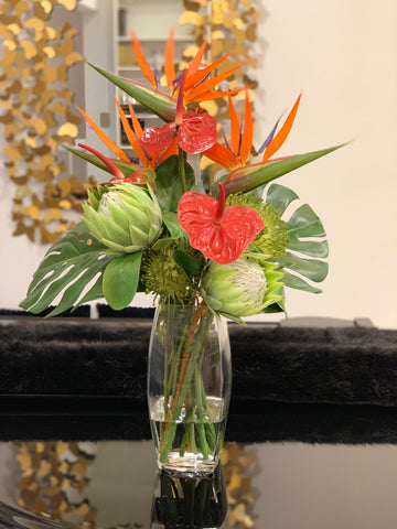 Bird Of Paradise Arrangement- Large Centerpiece - Home Decor - Hotel Decor - Office Centerpiece - Flovery