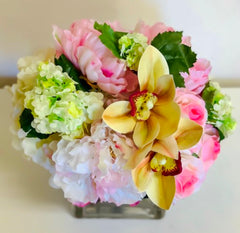 Finest Artificial Flowers Arrangement Mixed Spring Flowers