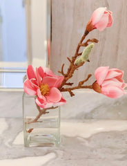 Real Touch Magnolia Arrangement - Faux Floral - Contemporary Design - Flovery
