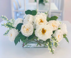 Elegant Long Centerpiece All Real Touch Flowers Arrangement - Home Decor By Flovery - Flovery