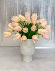 Large Real Touch Tulips Centerpiece - Faux Tulips Arrangement  - Faux Arrangement - Flovery