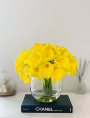 Large Yellow Calla Lily Real Touch Arrangement-Calla Lily/Lilies-Real Touch Flowers-Floral Arrangement-Faux Calla Lily-Yellow Centerpieces - Flovery