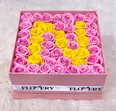 Large Box Personalized Letter Premium Scented Soap Roses - Flovery