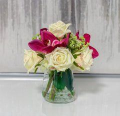 Real Touch Rose Mixed Orchid Arrangement