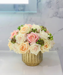 Flovery Everlasting Real Touch Mixed Rose Centerpiece - Flovery