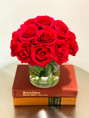 Real Touch Red Rose Arrangement Home Decor