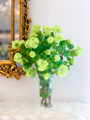 Silk Green Snowball Hydrangea Flower Arrangement - Flovery