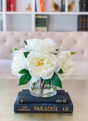 Real Touch Peony Arrangement-Real Touch Flower Arrangement-Large Peony Centerpiece-Peony Arrangement-Faux Arrangement-Silk Peony Centerpiece - Flovery