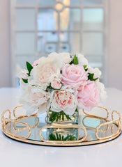 REAL TOUCH Pink/Pastel Peony Arrangement-Real Touch Flower Arrangement-Large Peony Centerpiece-Peony Arrangement-Faux/Rose Arrangement - Flovery
