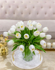 Large size REAL TOUCH Tulip Table Centerpiece-Large Tulip Flower Arrangement-Dinner Table Centerpiece Tulip-Floral Arrangement