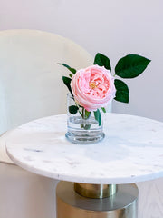Large Real Touch English Rose Arrangement-Artificial Flower Arrangement-Faux Flower-Silk Flower-Coffee Table Arrangement-Pink Roses - Flovery