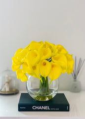 Large Yellow Calla Lily Real Touch Arrangement-Calla Lily/Lilies-Real Touch Flowers-Floral Arrangement-Faux Calla Lily-Yellow Centerpieces -