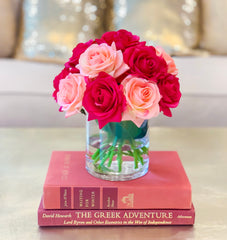 Mixed Pink Real Touch Rose Arrangement