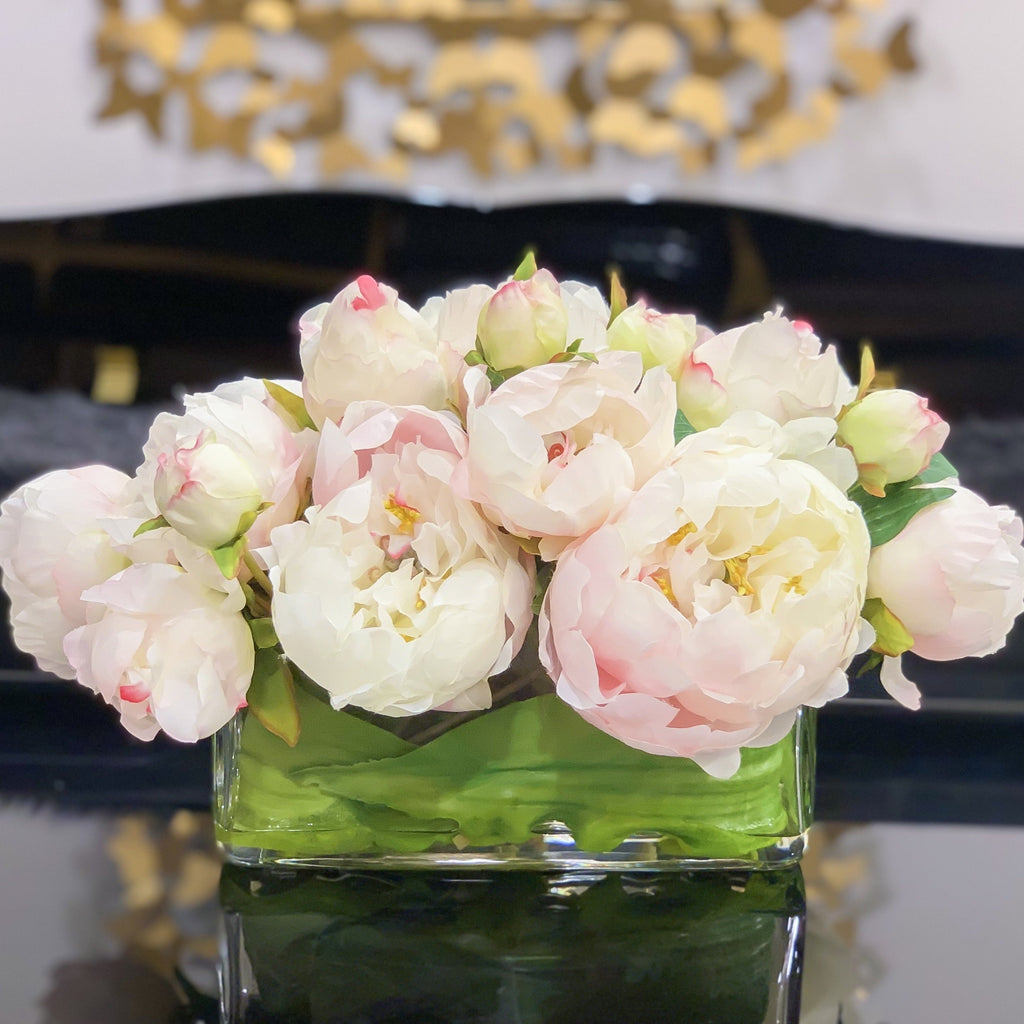 Luxury Silk Peony Artificial Flower Arrangement - Flovery
