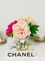 Pink Finest Real Touch Queen Peony-Large King Size Peonies Centerpiece-Peonies Arrangement-Silk-Luxury Like Life Peonies-Faux Hydrangea - Flovery