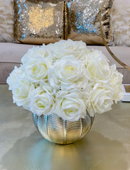 Large REAL TOUCH Flower Arrangement-Premium Large Dining Table Centerpiece-Large Floral Arrangement Home Decor-Flower Arrangement In Vase - Flovery