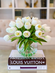 Large Table Centerpiece-Tulips Table Centerpiece-Large Tulip Artificial Flower Arrangement-Real Touch Tulip Flower Arrangement Home Decor - Flovery