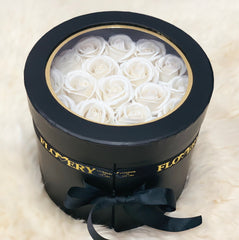 Premium Scented Soap White Roses In Elegant Double Box - Flovery