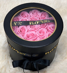Scented Soap Light Pink Rose In Elegant Double Gift Box
