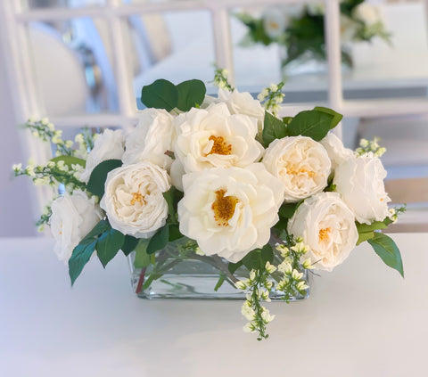 Elegant Long Centerpiece All Real Touch Flowers Arrangement - Home Decor