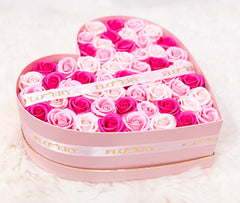Large Heart Shape Box Flovery's Scented Soap Roses - Flovery