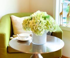 Green Hydrangea Silk Arrangement - Flovery