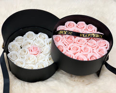 Scented Soap Mixed White and Flovery Pink Rose In Elegant Double Gift Box