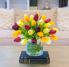13-in Tulip Real Touch Centerpiece - Flovery