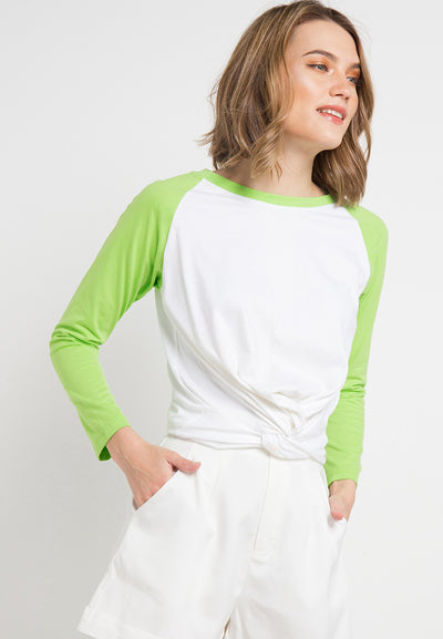 Raglan Knoted Tee - Green