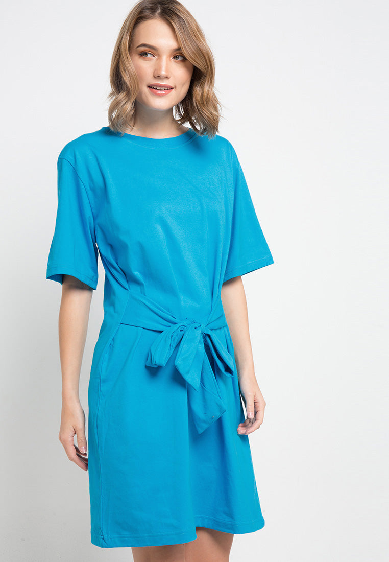 Knotted T-shirt Dress